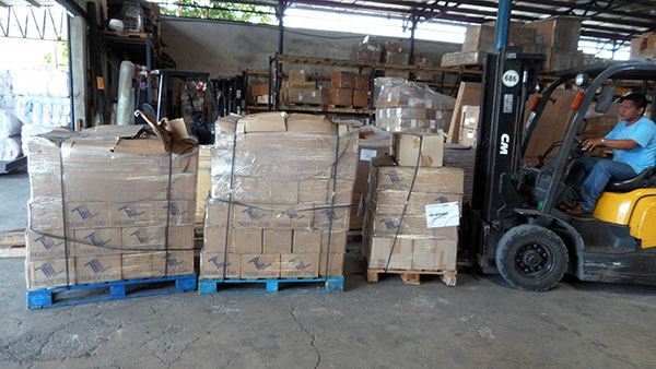 The three pallets of Calendars arrived safely at customs
