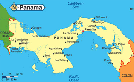 Map of Panama
