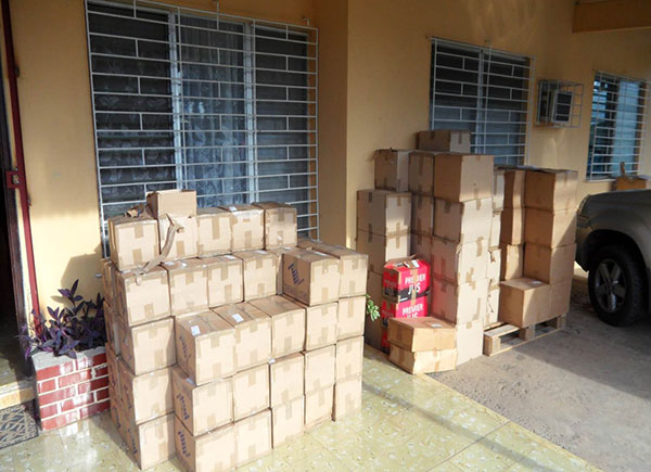 Lots of boxes of Calendars and Tracts