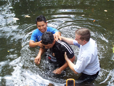 Baptism in river